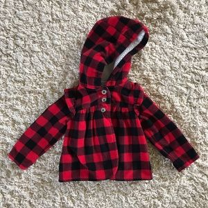 Carter's Plaid Jacket. Size 12 Months